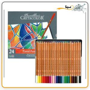 مداد پاستل کرتا کالر 24 رنگ