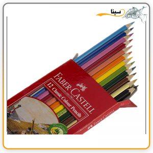 مداد رنگی فابر کاستل کلاسیک 12 رنگ