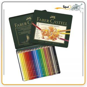 مداد رنگی فابر کاستل پلی کروم 24 رنگ