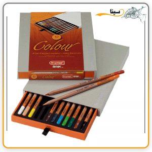 مداد رنگی دیزاین 12 رنگ