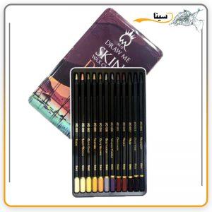 مداد رنگی 12 رنگ مارک mQ طیف پوست تیره